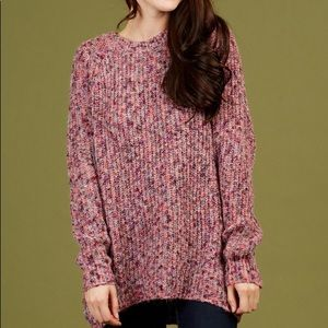 Altar'd State | Oversized Loose Knit Pink Sweater